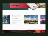 Travel App Landing Page
