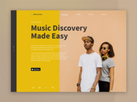 Musicovery landing page