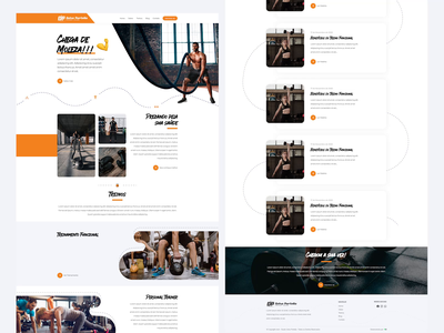 Personal Trainer Web Layout fitness logo orange layout orange site orange web design webdesign fitness website fitness website design light cool clean personal training personal trainer fitness layout fitness web fitness design fitness website design website web