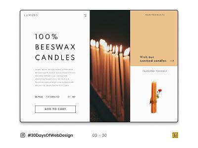 03 - 30 Instagram #30DaysOfWebDesign Challenge typography photoshop figmadesign web design ui ux