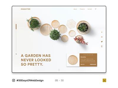 05 - 30 Instagram #30DaysOfWebDesign Challenge branding vector logo photoshop figmadesign ui ux website