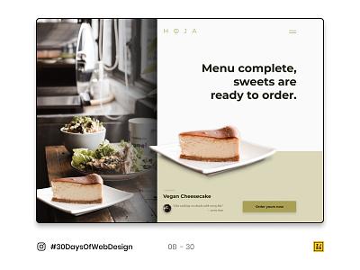08 - 30 Instagram #30DaysOfWebDesign Challenge web design photoshop figmadesign figma ux ui