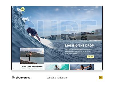 Camp Poe Redesign photoshop web website design typography adobe illustrator logo figmadesign figma design ux ui