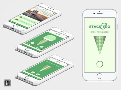 Stack   Go 004 app sketchapp adobe illustrator vector logo ui design
