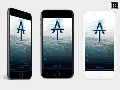 Aquatic Training 005 sign in vector adobe illustrator logo sketchapp design