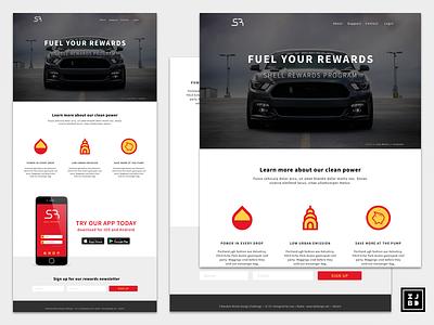 Shell Rewards 008 vector adobe illustrator branding ux ui sketchapp landing page design
