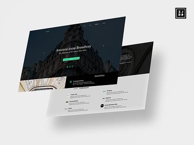 Ansonia NYC Website website design typography design ui sketchapp