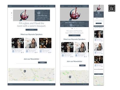 UVA Wine Breakdown responsive design website design design ux ui