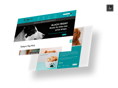 Fido Online Pet Store Presentation website design ux ui adobe xd