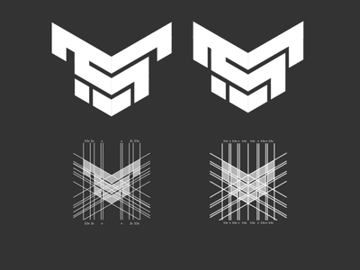 ms monogram monogram vector minimal design logo branding