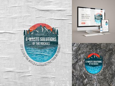 Logo Badge E-Waste Solutions brand logo designer corporate logo company logo logomaker nature website identity vintage logo badge typography ux ui illustration icon vector minimal design logo branding