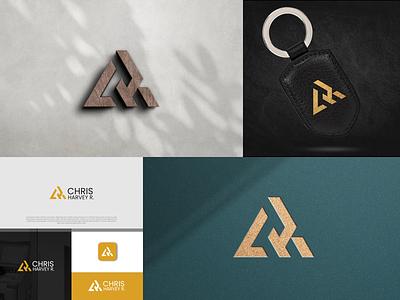 CHR Monogram Logo minimalist logo triangle logo inspiration company logo fashion apparel fitness modern logo simple logo logo design logo designer lettermark monogram typography icon vector minimal design logo branding