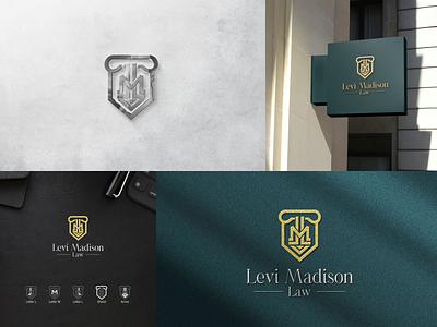 Monogram Logo LM Law brand identity law logo law company logo law office arrow shield monogram logo designer logo design typography ux ui illustration icon vector minimal design logo branding