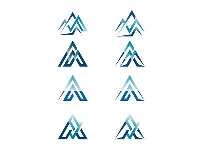 Avalanche art app type typography illustrator clean graphic design brand flat identity monogram ui ux illustration minimal icon vector logo design branding