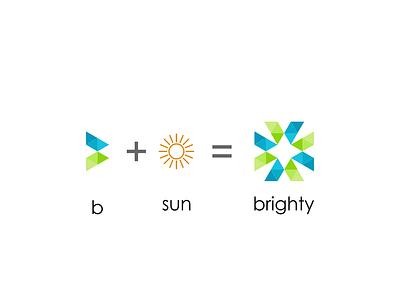 Brighty illustrator app web type clean graphic design brand flat identity monogram ui ux typography illustration minimal icon vector logo design branding