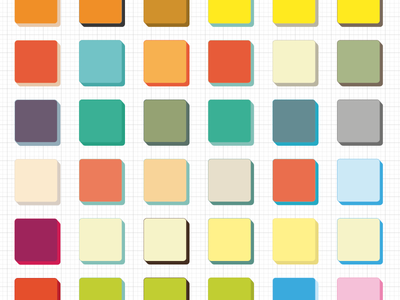 Colors study for icon