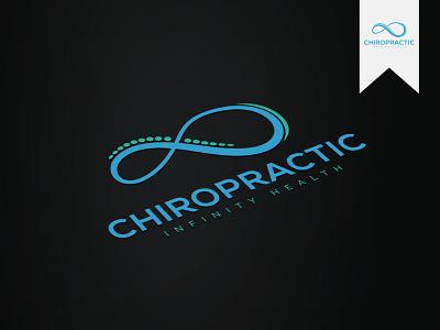 Logo Wellness - Chiropractic service clinic beauty logo yoga cosmetic medical spa therapist therapy bones spine chiropractic vector wellness logos logodesign logonew logo flat minimalist