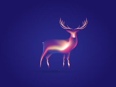 Deer clean illustraion character animal flat  design creative  design deer vector artwork artworks