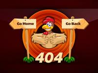 404 Cartoon Page - Error Page