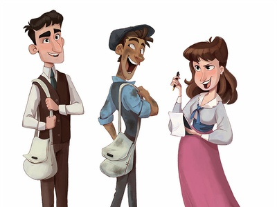 Newsies Gang adobe photoshop photoshop digital painting digital art newsies disney character design