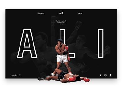 Muhammad Ali's Website Concept