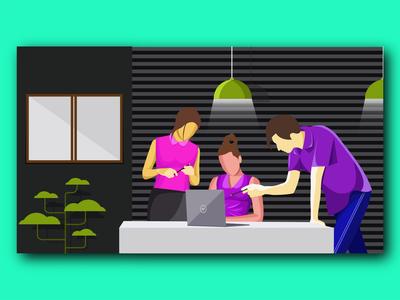 Working Together Illustration