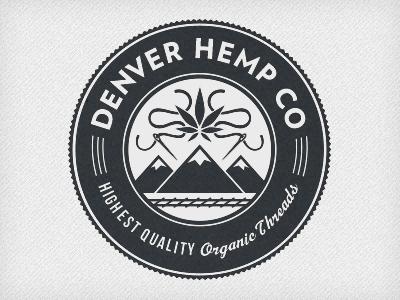 Denver Hemp Company branding logo illustration