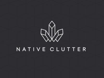 Native Clutter Logo icon branding logo