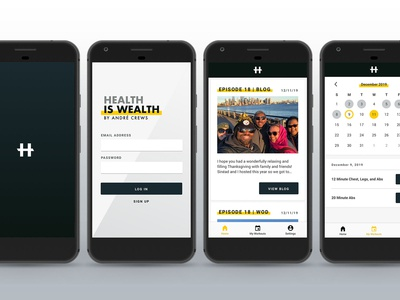 #HealthIsWealth Mobile App