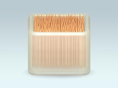Toothpick box icon