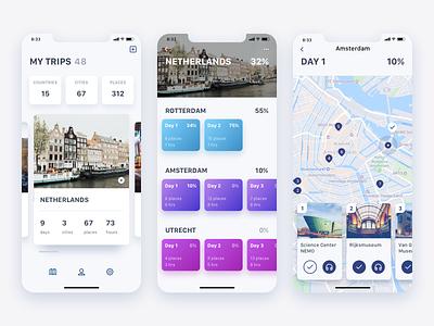 Travel Guide concept todo guide trip planning interface iphonex ui design concept app tourism travel