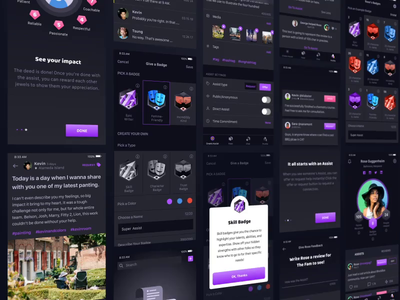 Blxckbox character graphic onboarding cell simple clean dark post story assist social network product ui ux mobile community chat design interface app