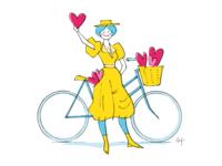 Valentine Bicyclist