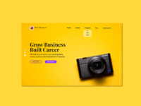 Photography website landing page