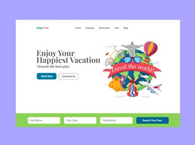 Travel Agency user interface uiux web ui web design ux landing page website web ui