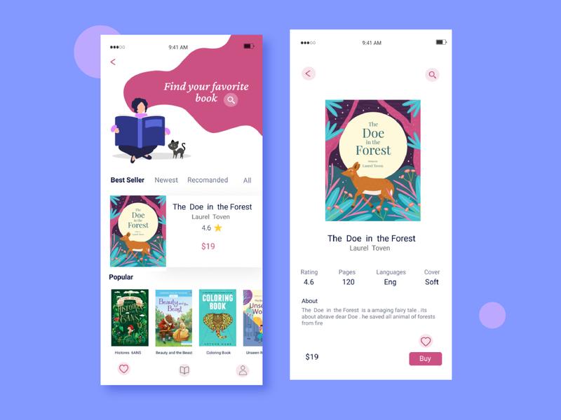 Book App app ui ux art reading book app ui app design app ux design ui