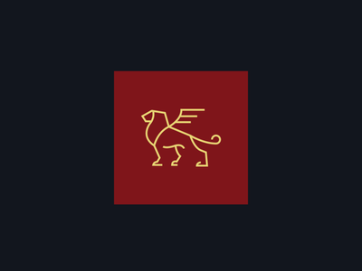 Lion With Wings - Wealth Management Company Logo Design vector illustrator icon brand flat logo graphic design minimal design clean