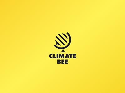 Climate Bee Logo Design web illustrator flat icon identity graphic design brand vector minimal logo design clean branding