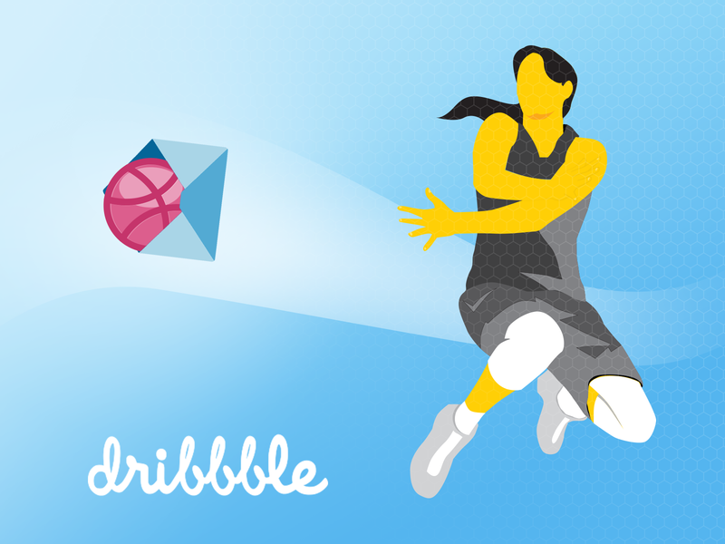 My first shot - Thanks Shweta first shot illustration vector thanks dribble invite draft day