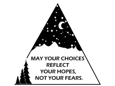 Choices nightsky sky fear hope choices trees mountains moon night quote illustrator cc illustration
