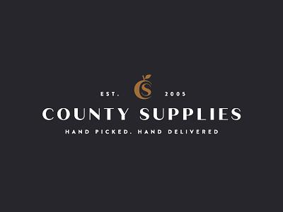 County Supplies London london apple food boutique monogram logo re-brand