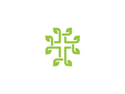 Church Vine Logo engrafted community green church cross vine leaves logo wip