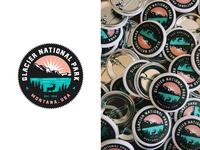 Glacier National Park Buttons