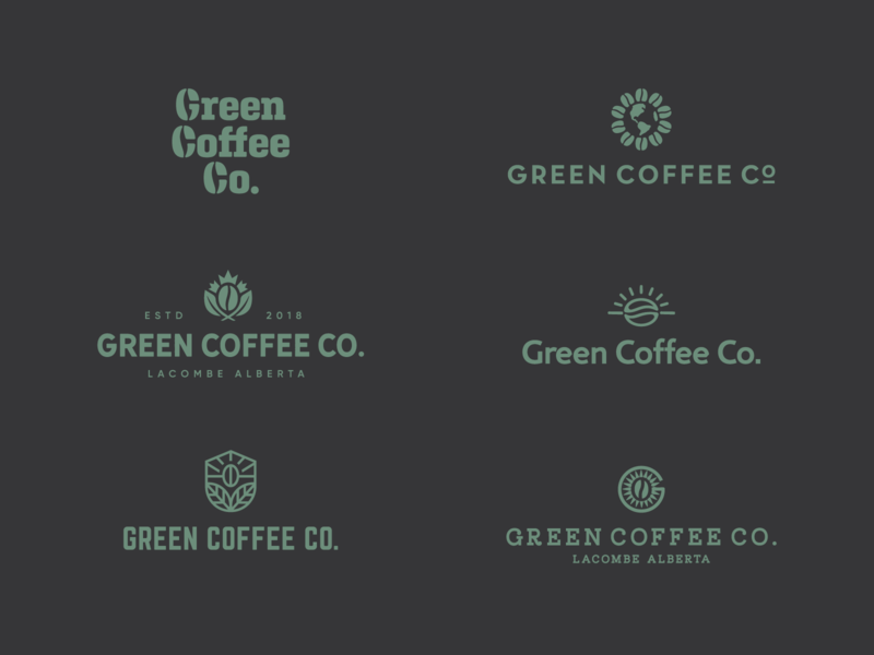 Green Coffee Co. Concepts world globe leaves leaf beans canada unroasted coffee green
