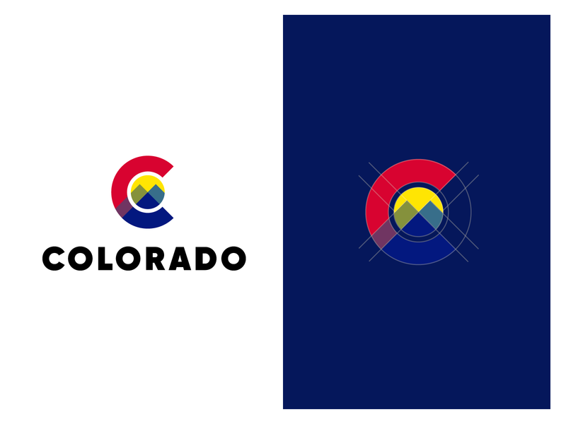 Colorado State (my version) sunshine mountains rebrand logo state colorado