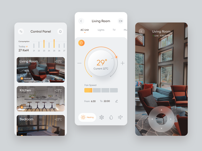 Smart Home App android ios application app uidesign userinterface ui smarthome smart