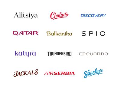 Lettering Logos Collection discovery jackal balkan chulado qatar logodesign logotype typo letter typography logos logo