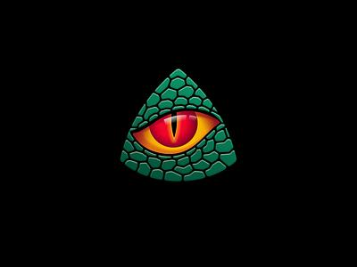 TRI-C game gaming logo eye dinosaur dino lizard reptile