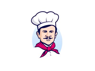 Chef logo food chef illustration