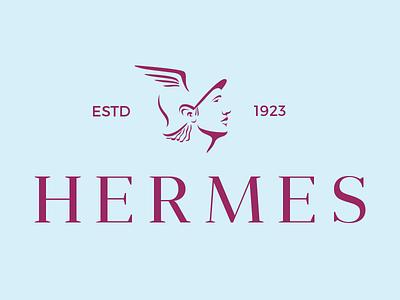 Hermes v2 wings helmet head hermes fashion logotype logo ancient god greek